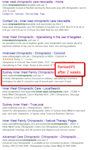 Chiropractic SEO Marketing - Ranking