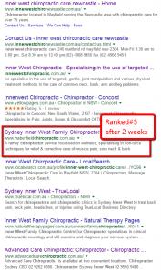 Chiropractic SEO Marketing - Ranking